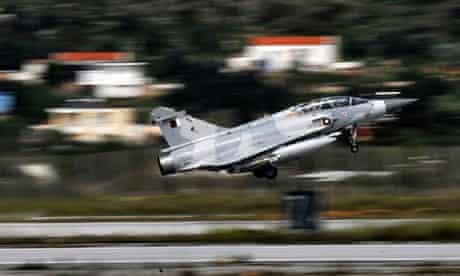 A Qatari Mirage 2000 jet t