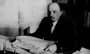 Lenin reading Pravda c.1920