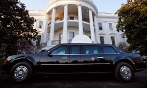 Barack Obama's limousine, 'the beast', is used to drive him around on foreign trips