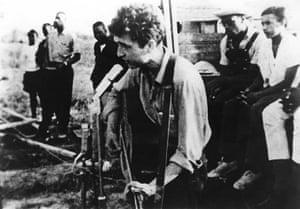 Bob Dylan at 70: Bob Dylan at civil rights gathering in Greenwood, Mississippi 1963