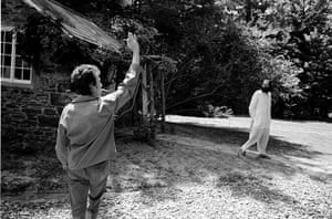 Bob Dylan at 70: Bob Dylan at home in Woodstock with Allen Ginsberg in 1964