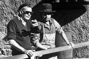 Bob Dylan at 70: Bob Dylan and Sam Peckinpah on the set of Pat Garrett And Billy The Kid