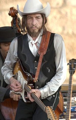 Bob Dylan at 70: Bob Dylan plays the Newport Folk Festival in 2002