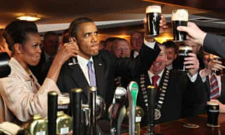 Obamas in Moneygall