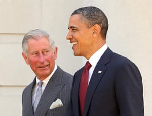 Obama UK visit: Prince Charles walks with Barack Obama