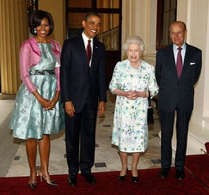 Obama UK visit: Barack and Michelle Obama with Queen Elizabeth and Prince