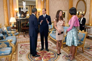 Obama UK visit: Barack and Michelle Obama chat with Prince William and Catherine