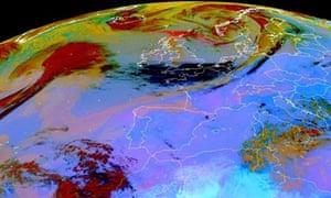 Dust concentration over Europe after the eruption of Iceland's Grímsvötn volcano