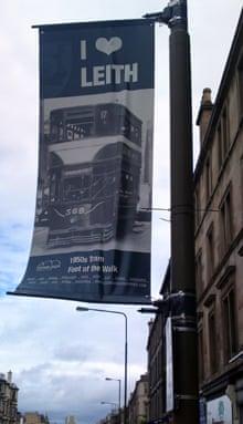 Leith Walk tram sign