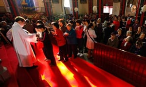 Easter Sunday mass at Xishiku Cathedral in Beijing