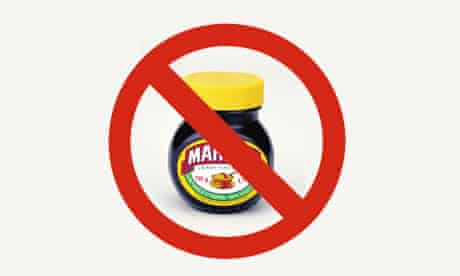 Marmite, the yeast extract spread has been banned in Denmark