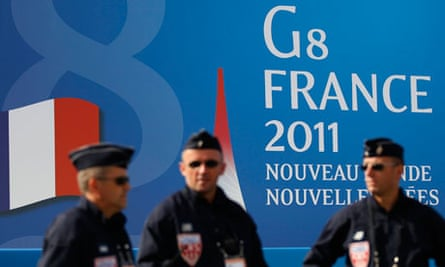 French police at G8