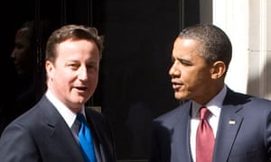 Cameron and Obama in Downing Street