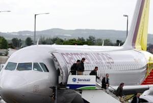 Volcano travel disruption: Germanwings aircraft