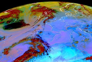 Volcano travel disruption: dust concentration over Europe