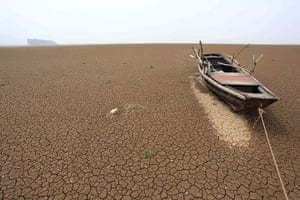 Drought in China: Poyang Lake in east China's Jiangxi Province