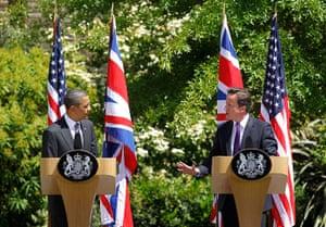 Obama UK visit update: Barack Obama and David Cameron hold a press conference at Lancaster House