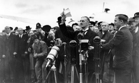 1938 Chamberlain Declares Peace For Our Time On Return From
