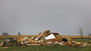 Tornadoes in US: A house is left as a pile of rubble west of El Reno, Oklahoma