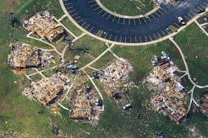 Tornadoes in US: An aerial view of damage in Joplin
