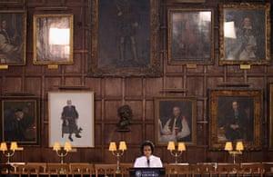 Obama UK visit update: Michelle Obama delivers a speech at University of Oxford