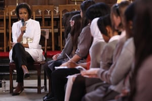Obama UK visit update: Michelle Obama answers student's questions at University of Oxford