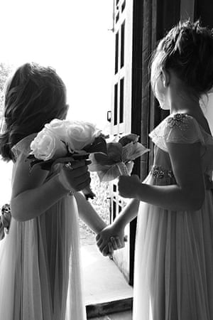 In pictures: expectation: two young bridesmaids