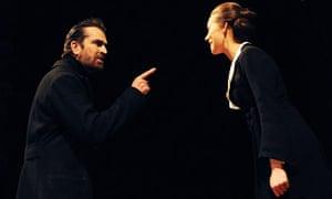 Rupert Everett as Henry Higgins and Kara Tointon as Eliza Doolittle in Pygmalion