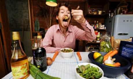 Paul MacInnes enjoys some healthy food