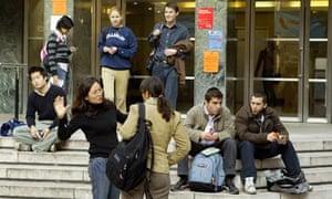 Students at the London School of Economics