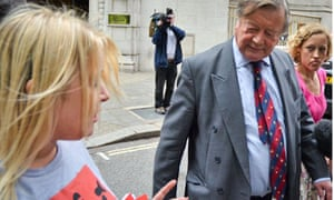 Ken Clarke is confronted by law campaigners