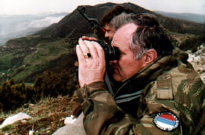 Ratko Mladic: Mladic monitors a battle against Muslim forces near Bosnian city of Gorazde