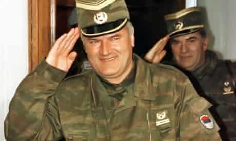 File photo of Ratko Mladic in Belgrade