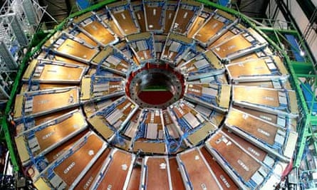 The CMS particle detector at the LHC