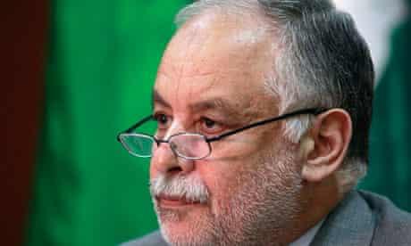 Libya's prime minister, Al-Baghdadi Ali al-Mahmoudi