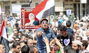 Egyptians protest at Tahrir Square in Cairo