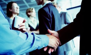 networking meeting of businesspeople