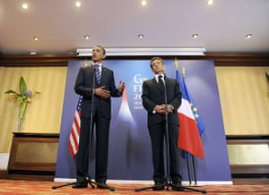 G8 Summit 2011: Barack Obama and Nicolas Sarkozy leave after making statements