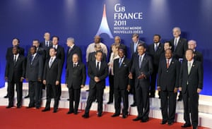 G8 Summit 2011: G8 leaders pose with other delegates