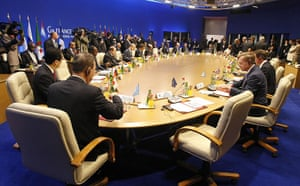 G8 Summit 2011: Around table meeting between G8 members and African countries