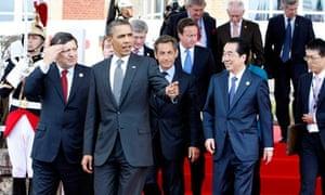 Barack Obama, David Cameron, Jose Manuel Barroso, Naoto Kan, Dmitry Medvedev, Herman Van Rompuy