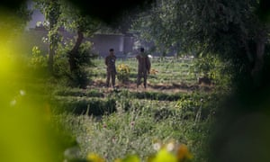Pakistan army soldiers guard the compound where it is believed Osama bin Laden lived in Abbottabad