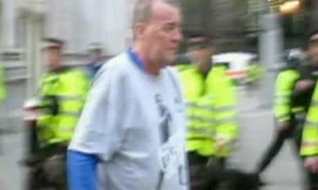 Ian Tomlinson, seen here moments before he was pushed by a police officer at G20 protests in 2009