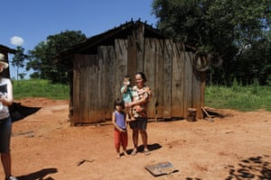 Deforestation for soybean:  Colonia Yeruti, Curuguaty, Paraguay