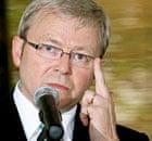 Australia's foreign minister, Kevin Rudd