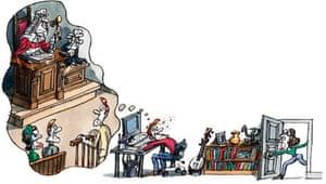 Tim Dowling illustration: birthday party