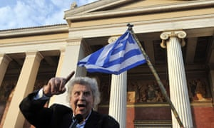 Greek composer Mikis Theodorakis