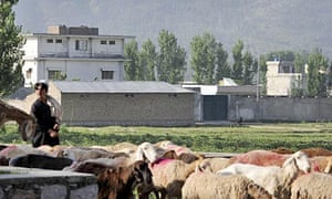 Osama bin Laden's house in Abbottabad, which Pakistan's ISI agency says it raided in 2003