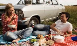 Couple enjoying a picnic