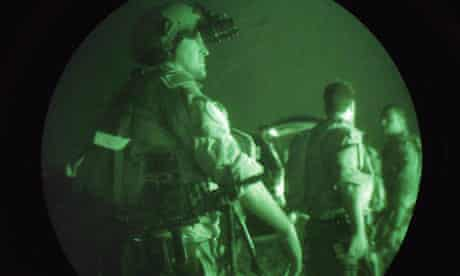 US navy Seals on a night mission in the Middle East